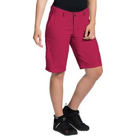 VAUDE Ledro Spodnie krótkie Kobiety, czerwony